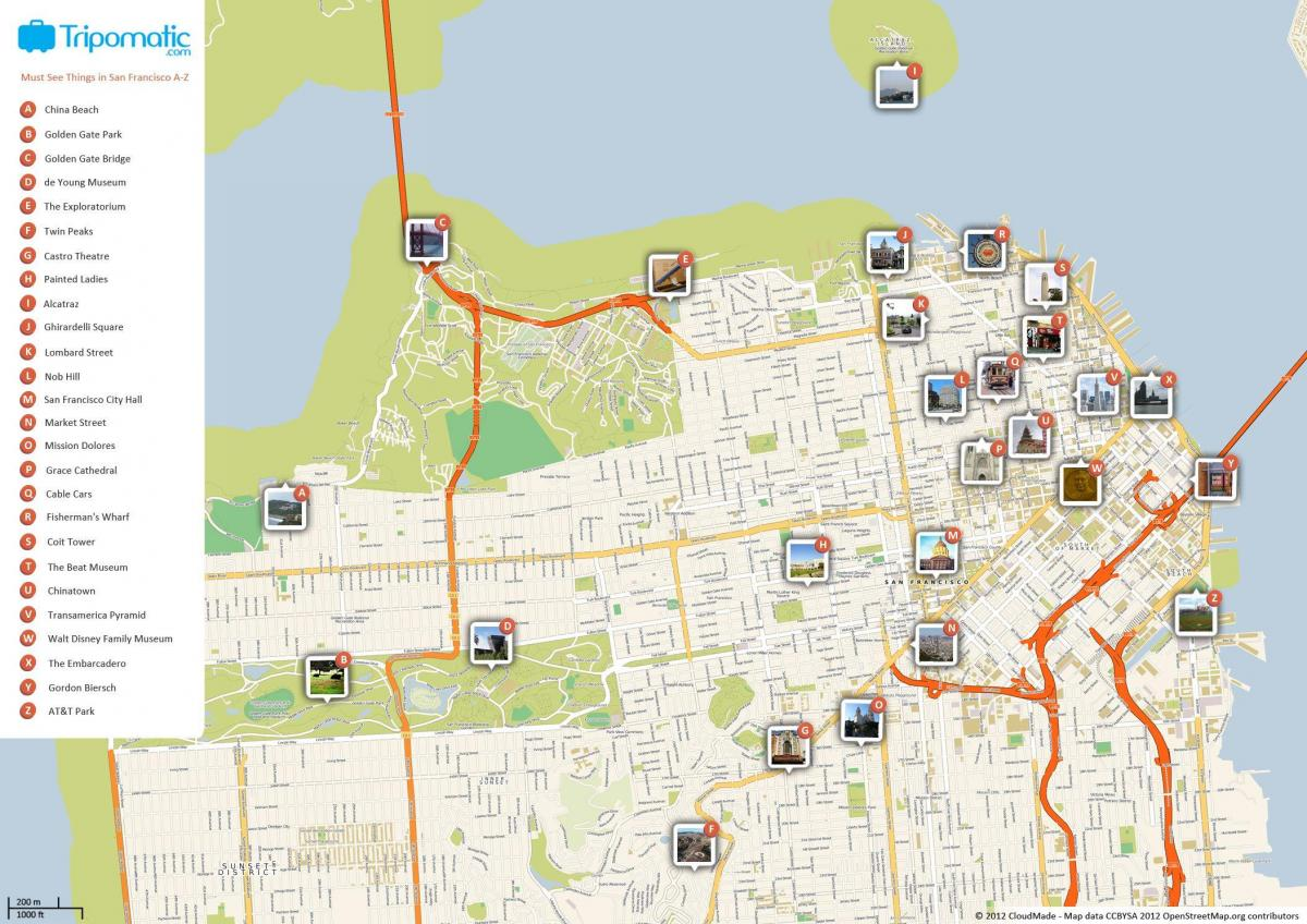 San Francisco sights map